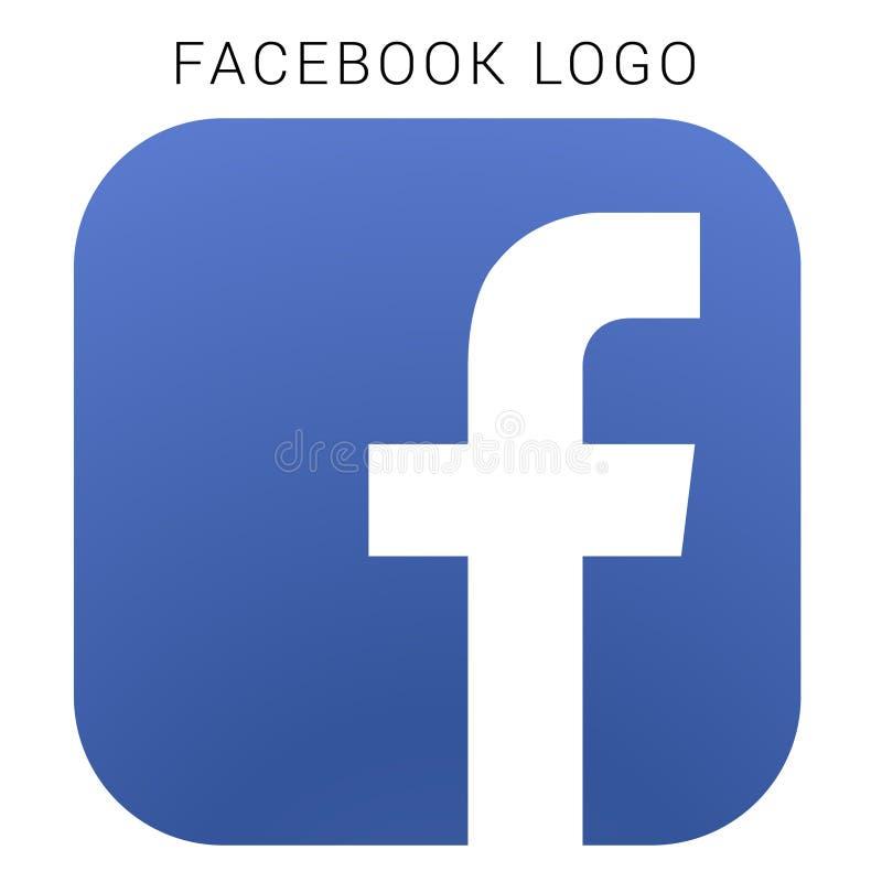 Facebook-embleem met vectorai dossier Geregeld gekleurd stock illustratie