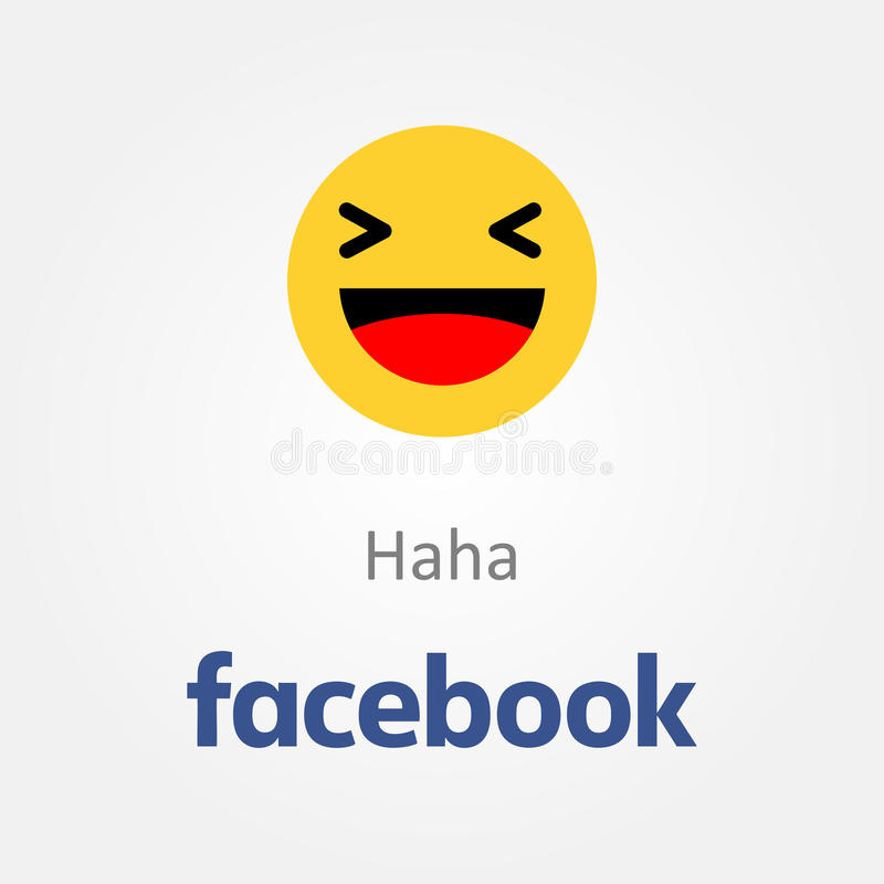 Facebook-emotiepictogram Haha het lachen emojivector stock illustratie