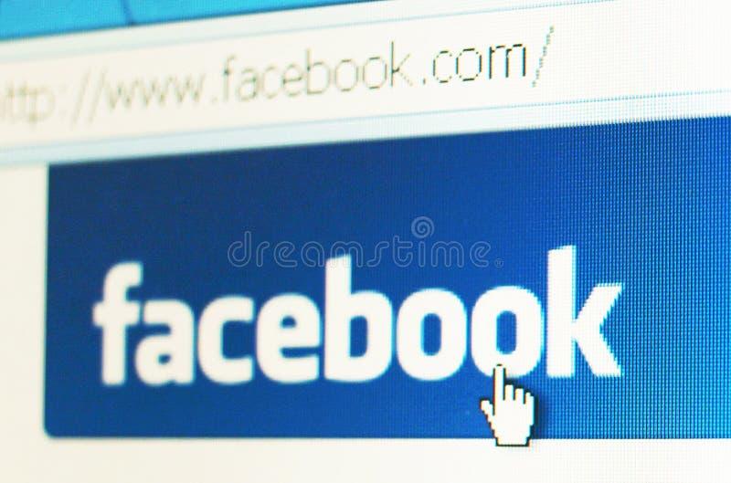 Facebook Fahne Redaktionelles Stockbild
