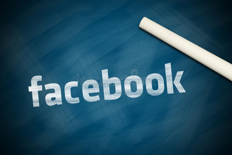 Facebook-Fahne stockbild