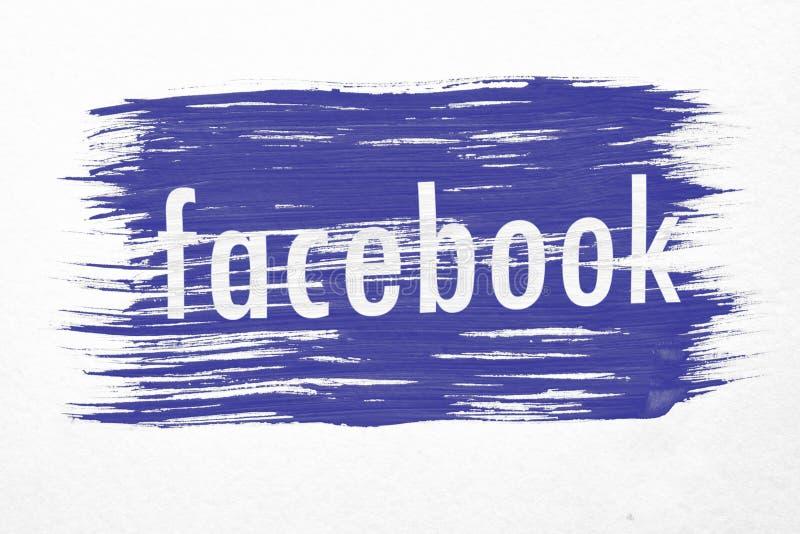 Facebook flaga ilustracja wektor