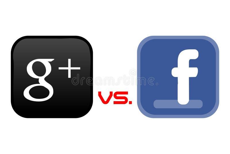 facebook google εναντίον διανυσματική απεικόνιση