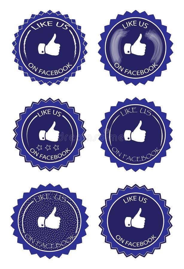 Facebook gosta ilustração do vetor