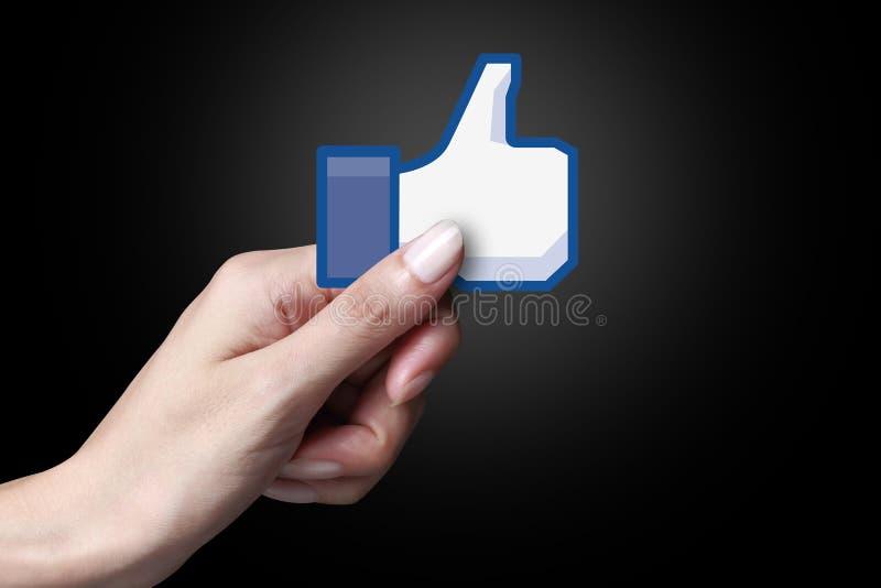 Facebook gradice l'icona fotografia stock