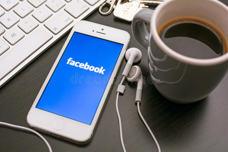 Facebook royalty free stock photography