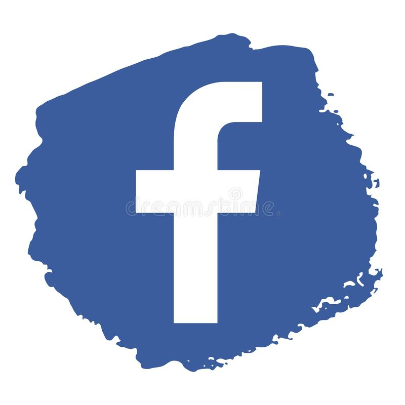 Facebook icon grunge style vector royalty free illustration