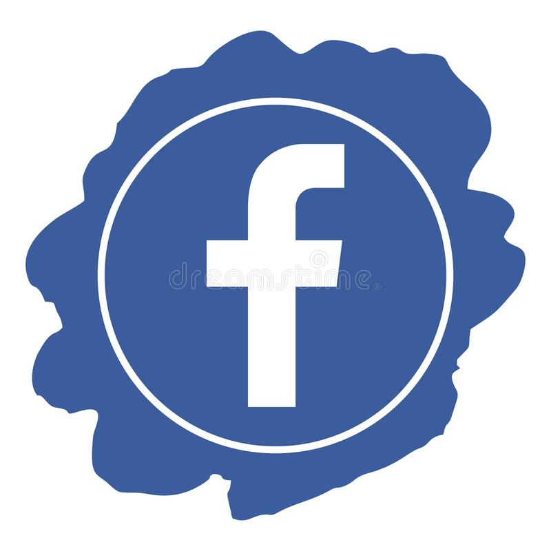 Facebook icon grunge style vector vector illustration