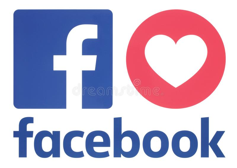 Facebook icon with Love Empathetic Emoji Reaction vector illustration