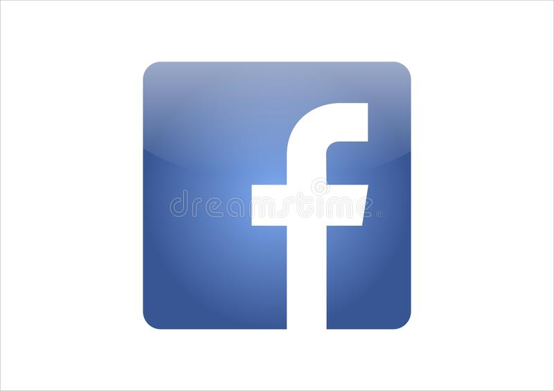 Facebook icon vector. Facebook blue icon on white background stock illustration