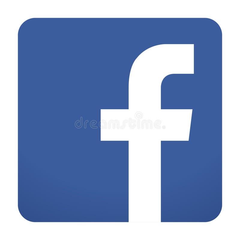 Facebook icon vector. Facebook logo blue icon on white background