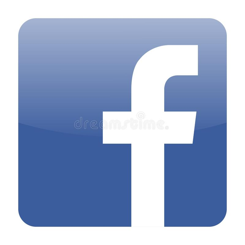 Facebook icon vector royalty free illustration