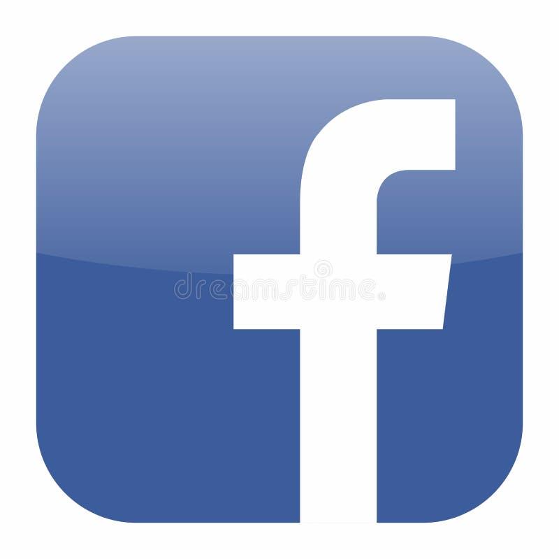 Facebook-Ikonenvektor lizenzfreie abbildung