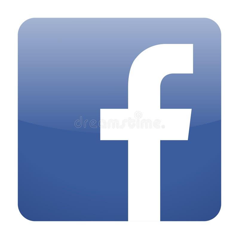 Facebook-Ikonenvektor vektor abbildung