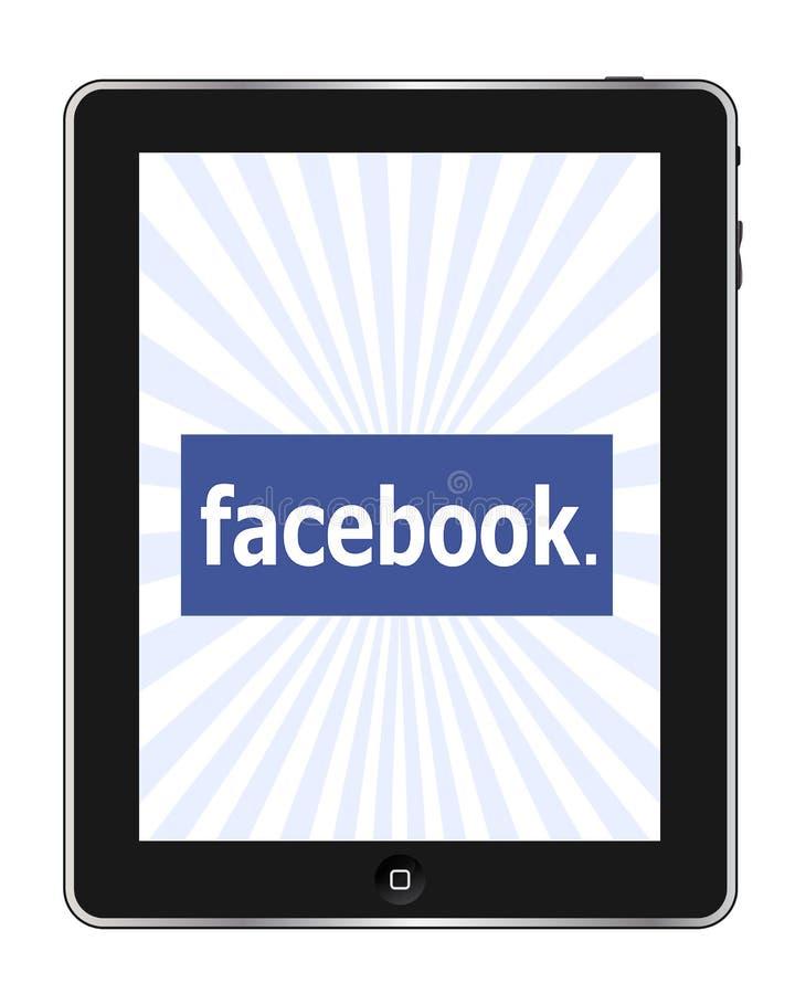 Facebook on Ipad stock illustration