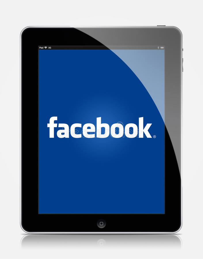 Facebook Ipad стоковые изображения