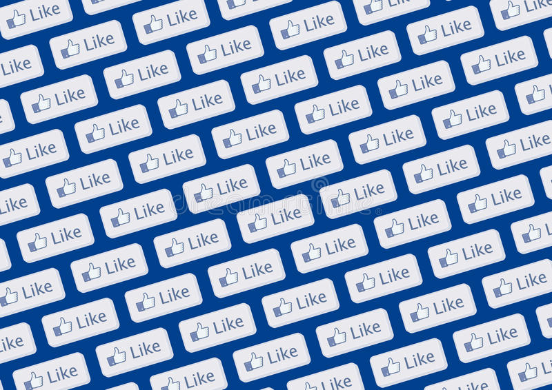 facebook jak logo ściana ilustracja wektor
