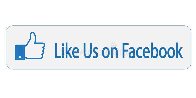 Facebook jak my na znaku royalty ilustracja