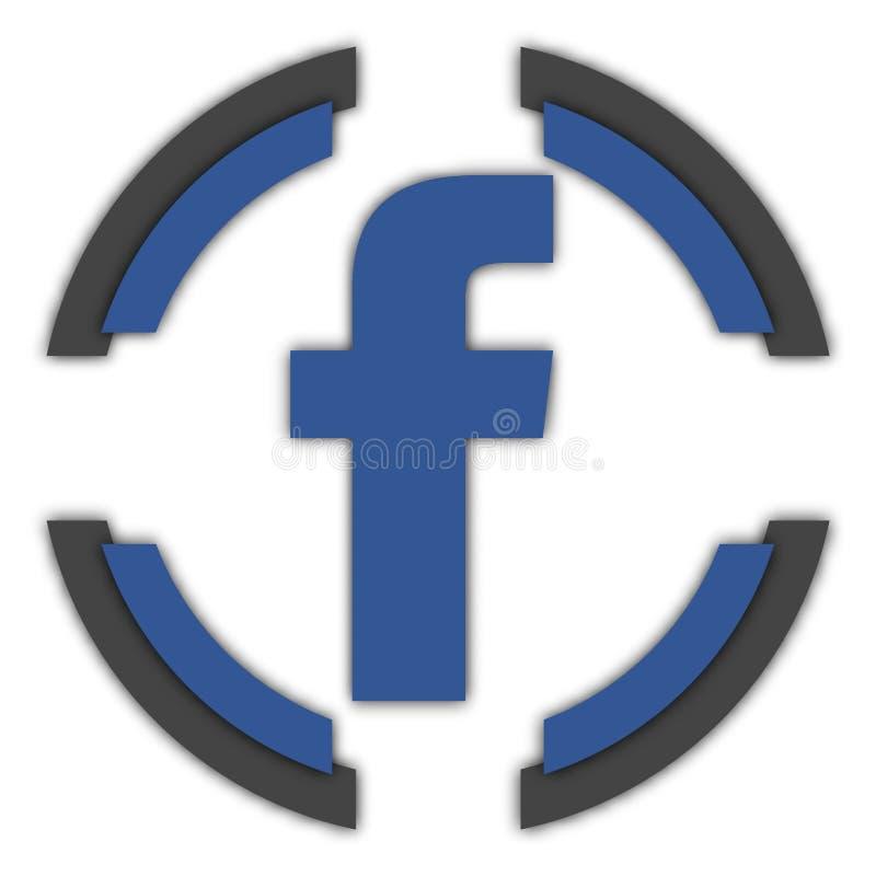 Facebook knapp royaltyfri illustrationer