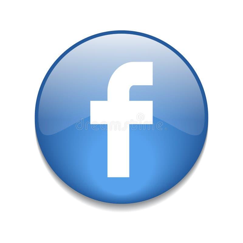 Facebook knapp stock illustrationer