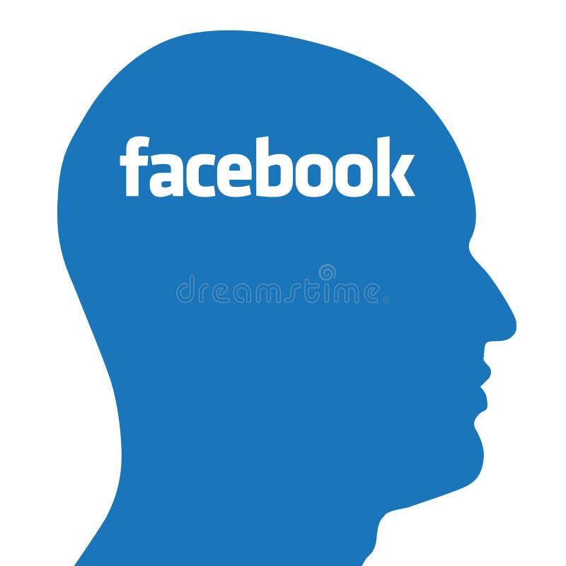 Facebook-Konzept vektor abbildung