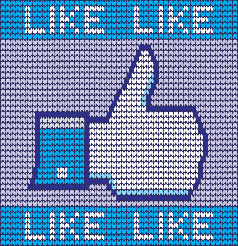 Facebook like button made of wool