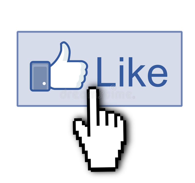 Facebook Like Thumb Up Sign Editorial Image