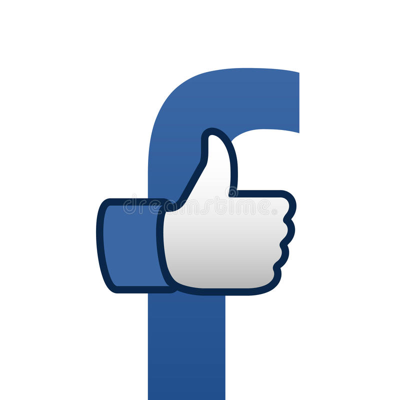 Facebook Like Thumbs Up Symbol Icon Editorial Photography