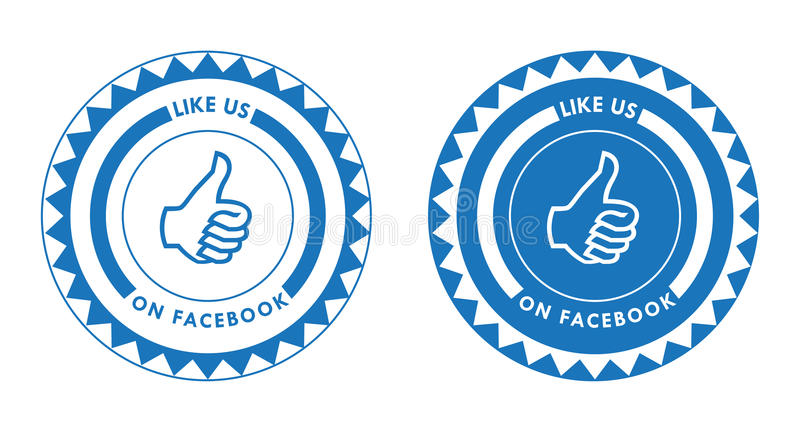 Facebook Like Us. An illustration of Like Us On Facebook thumb up. An additional Vector .Eps file available. (you can use elements separately