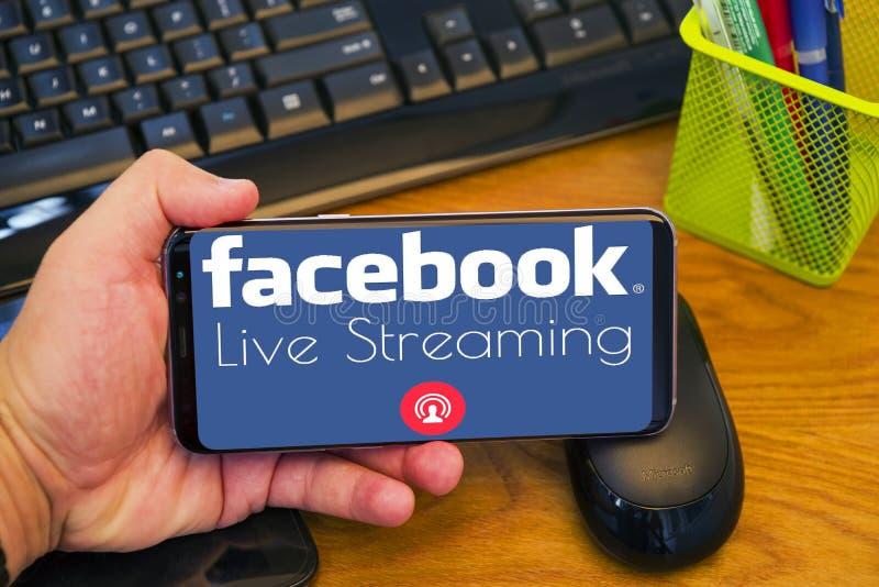 Facebook Live Streaming photographie stock libre de droits