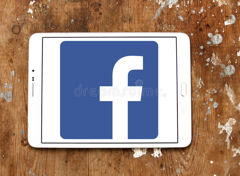 Facebook logo royalty free stock photos