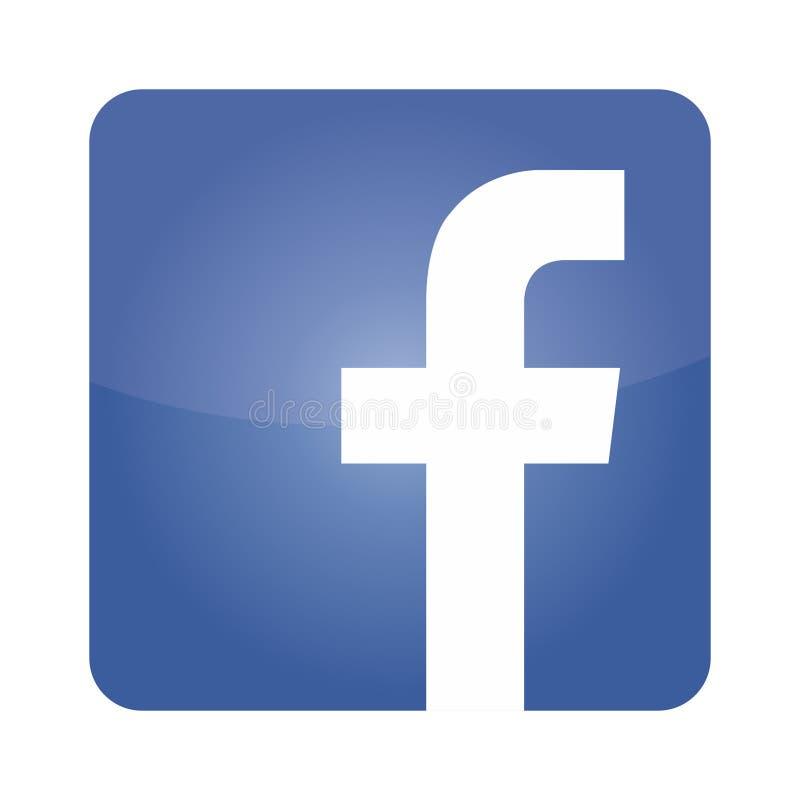 Facebook logo icon vector royalty free illustration