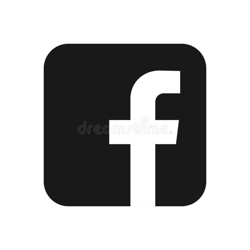 Facebook, logo de réseau social a imprimé sur le livre blanc, fond illustration de vecteur