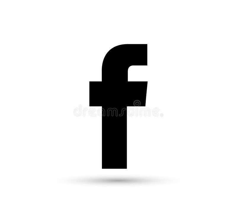 Facebook logo icon vector black design illustration stock illustration