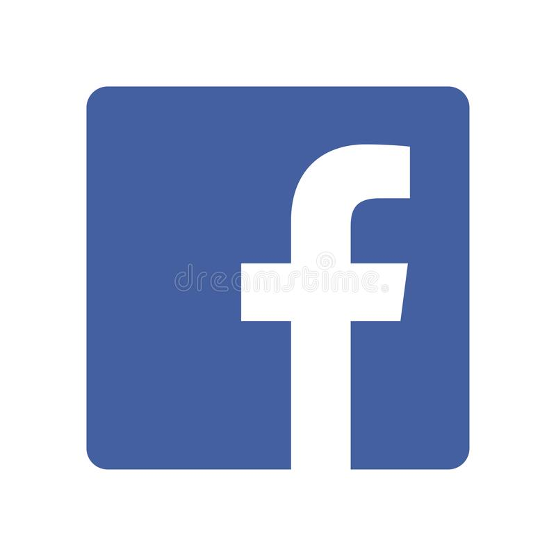 Facebook logo printed on paper. Spotify music streaming service icon on paper vector illustration