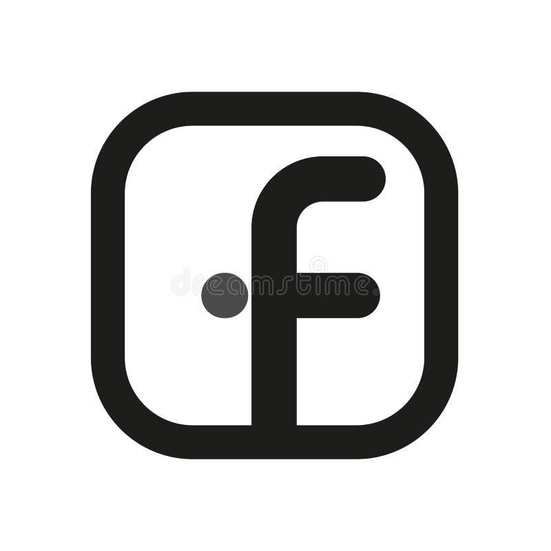 Facebook logo Proste kreskowe ikony dla sieci obrazy stock