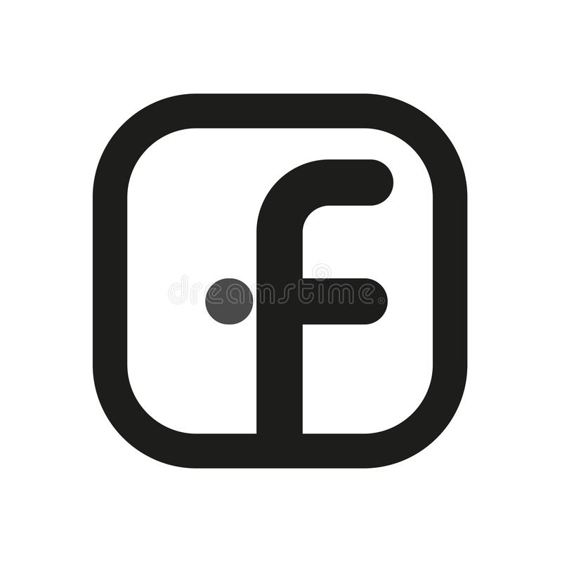Facebook logo. Simple line icons for web stock images