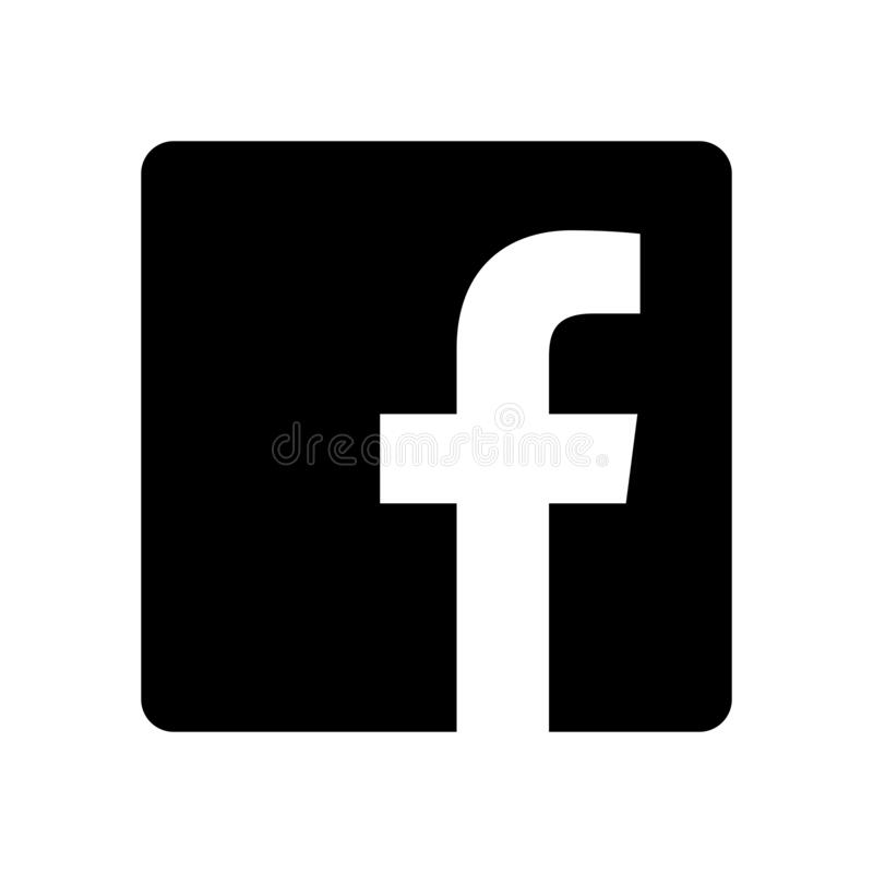 Free Facebook Logo - Vector - Black Silhouette Shape - Isolated. F Icon For Web Page, Mobile App Or Print Materials. Transparent Templa Stock Images - 204672054