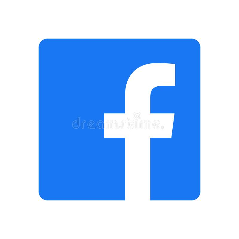 Free Facebook Logo - Vector - Original Latest Blue Color - Isolated. F Icon For Web Page, Mobile App Or Print Materials. Transparent Royalty Free Stock Photo - 204672025