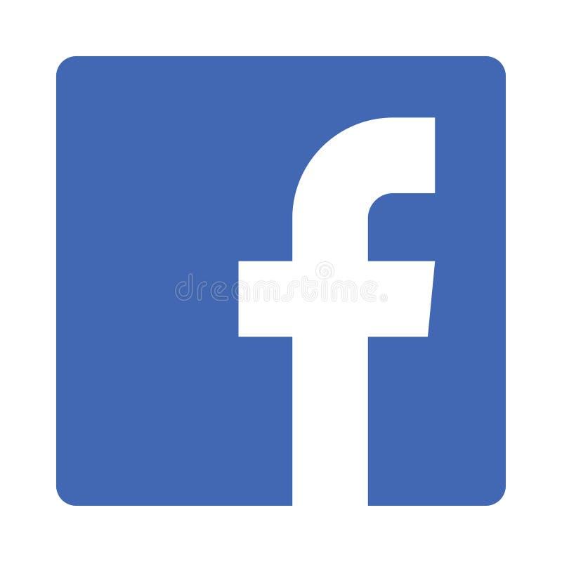 Facebook logosymbol vektor illustrationer