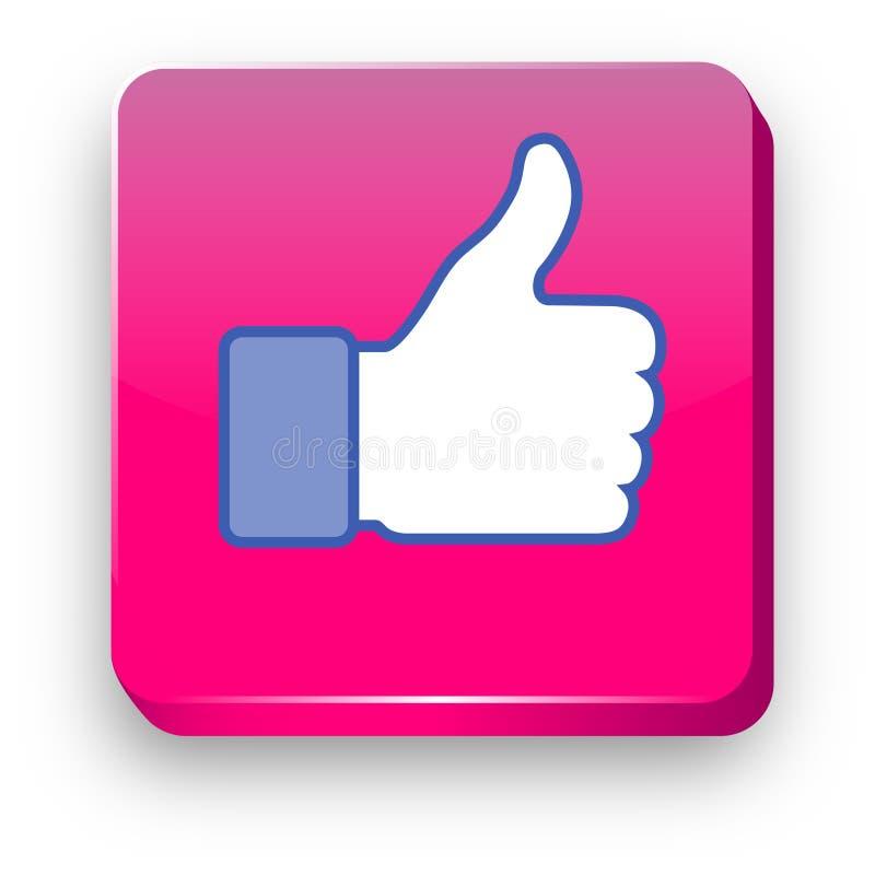 Facebook Lubi 3d wektoru ikonę Facebook kciuk lubi! ilustracja wektor