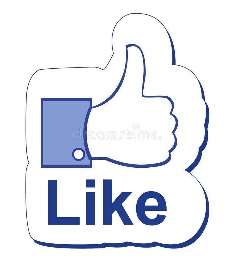 Facebook mögen stock abbildung