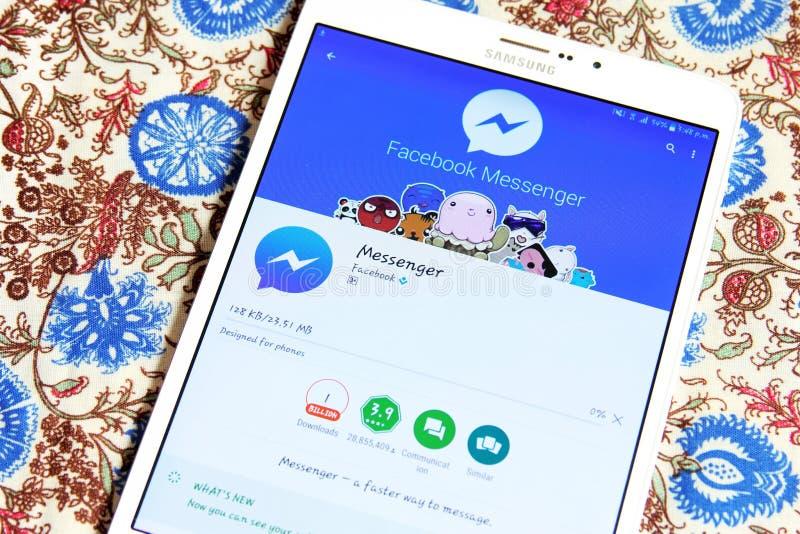 Facebook messenger app royalty free stock photos