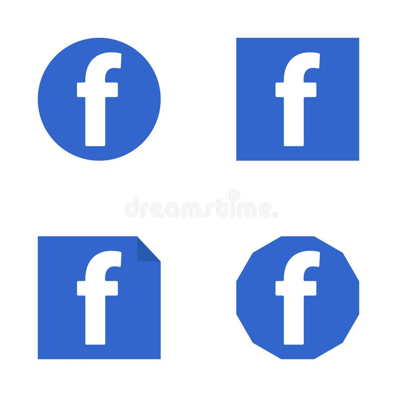 Facebook mieszkania ikona ilustracji
