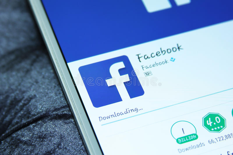 Facebook mobile app royalty free stock images