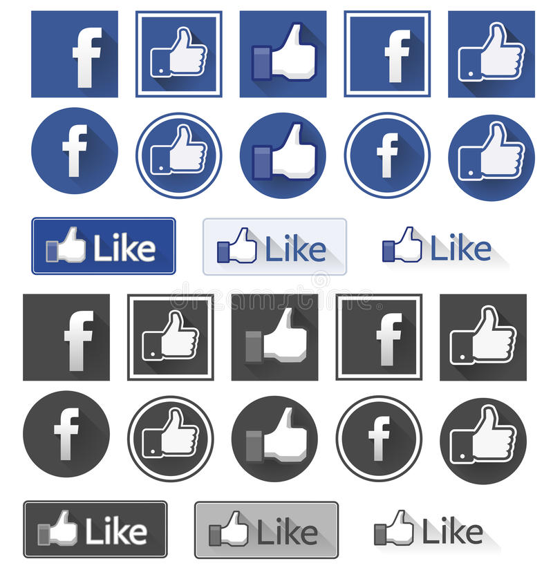 Facebook något liknande royaltyfri illustrationer