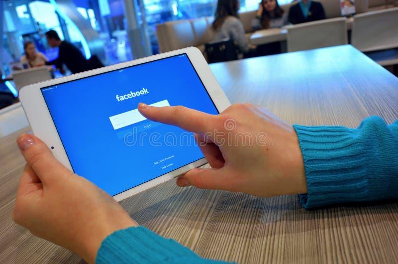 Facebook nazwa użytkownika obraz stock