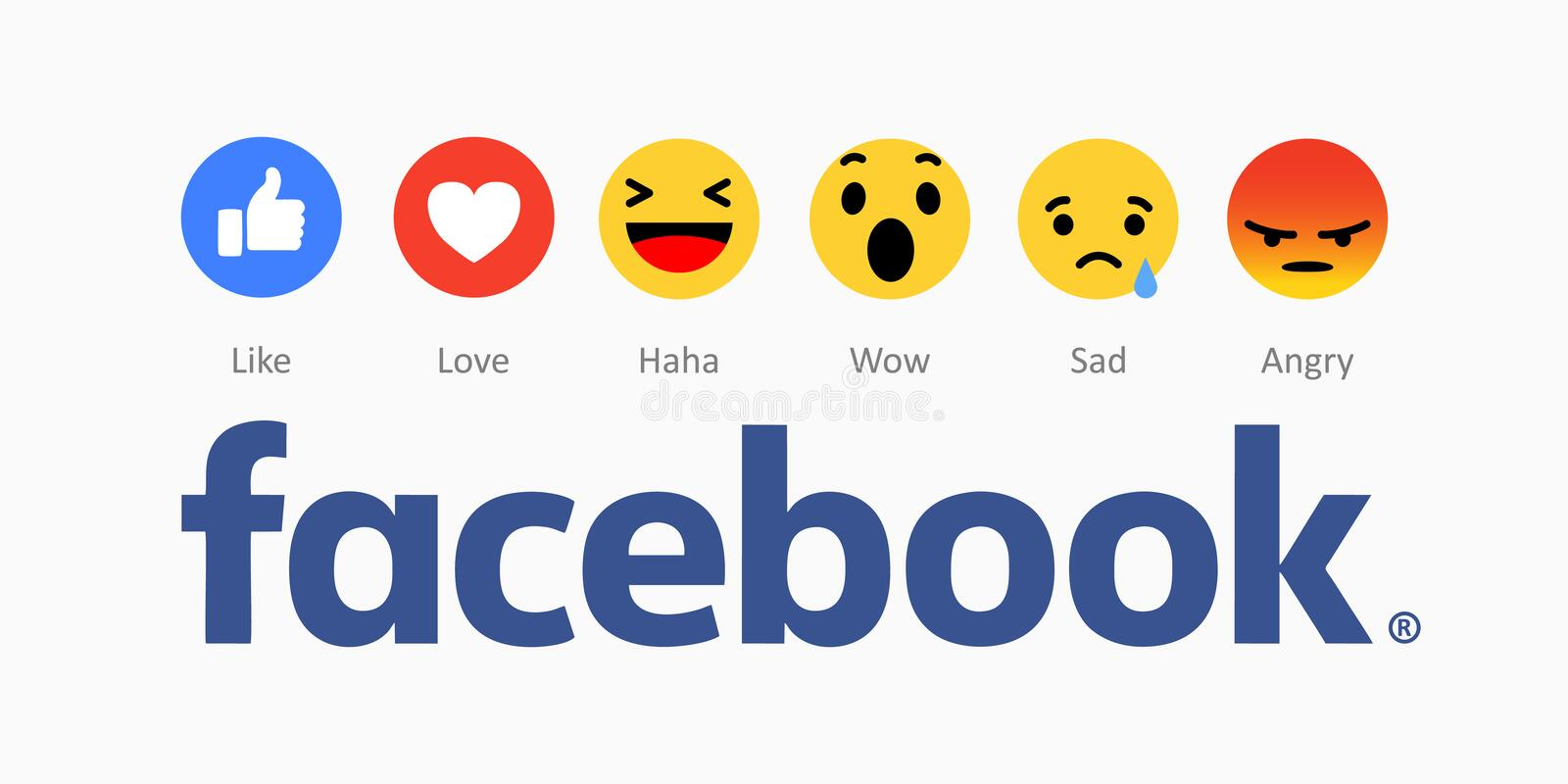 Facebook new like buttons icons. royalty free illustration