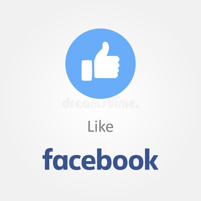 Facebook nouveau comme le bouton illustration stock