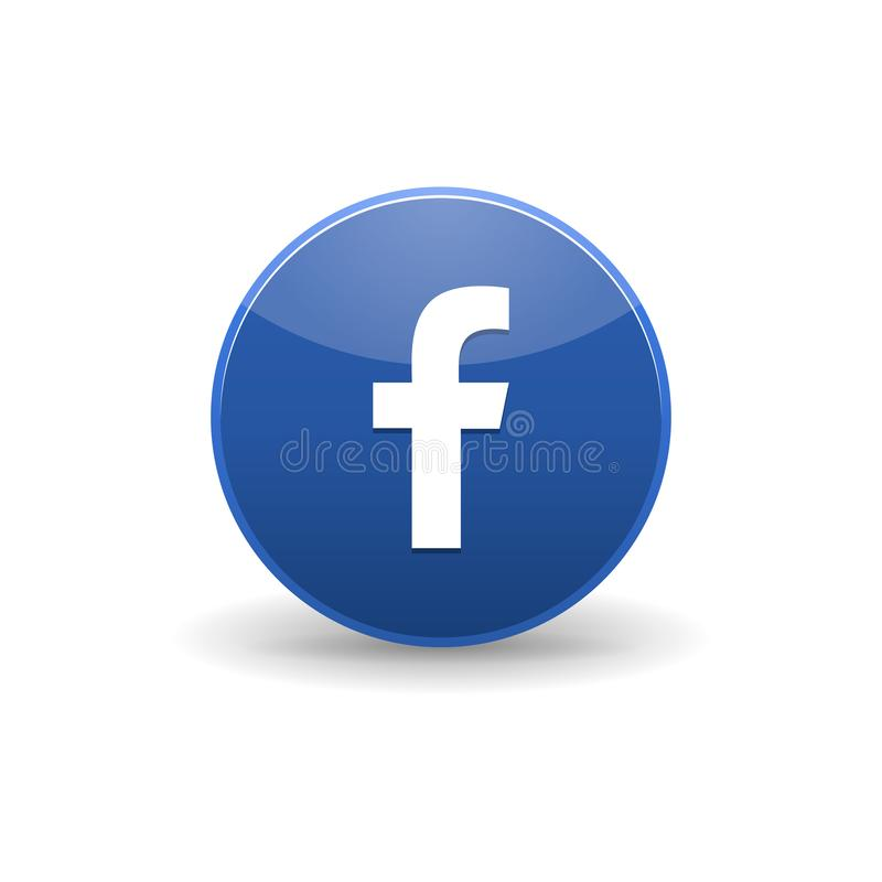 Facebook-pictogram, eenvoudige stijl stock illustratie