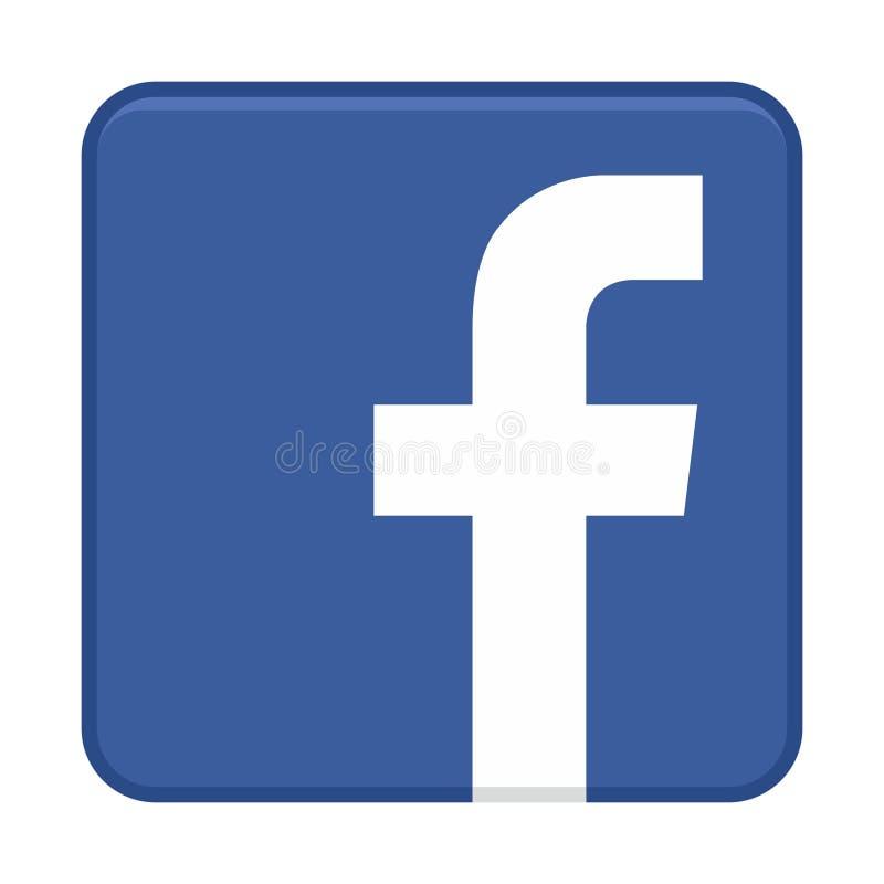 Facebook-pictogramvector royalty-vrije illustratie